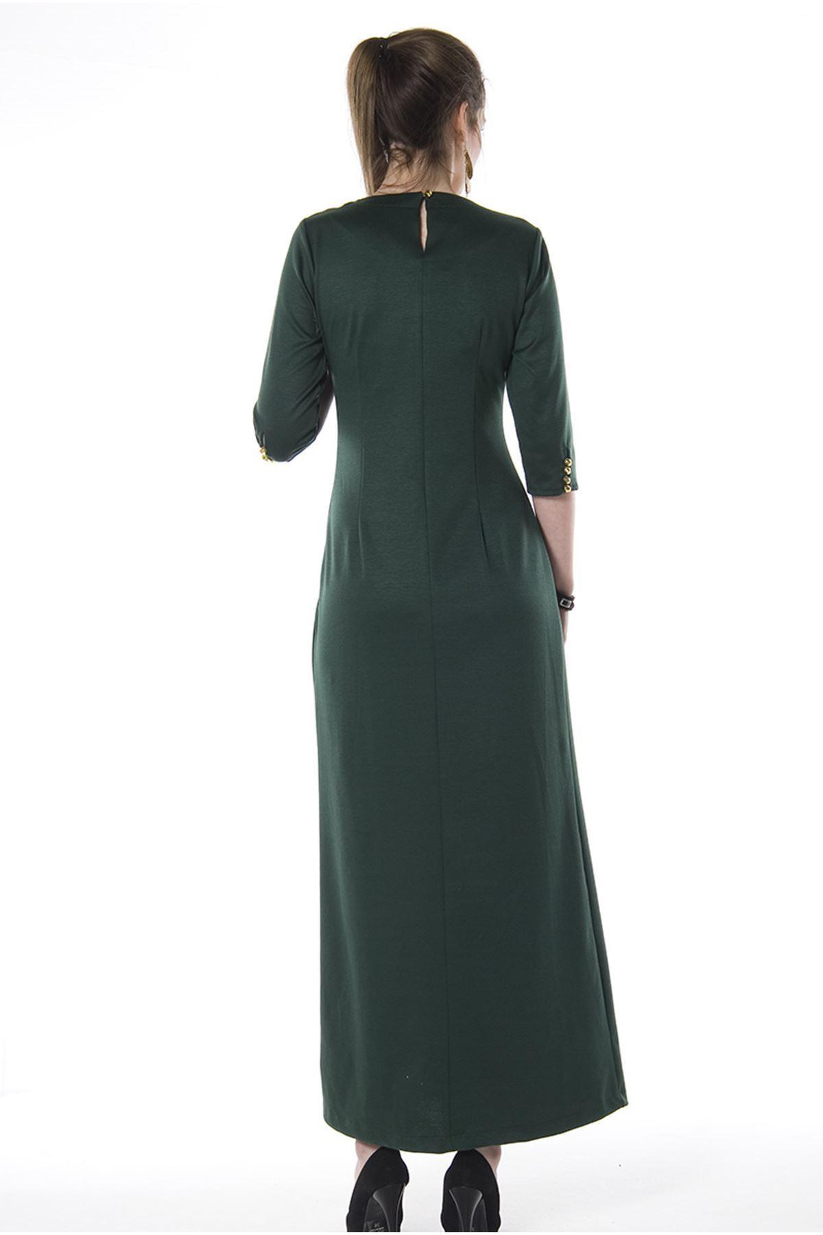 Yeşil Uzun Elbise H8-67441
