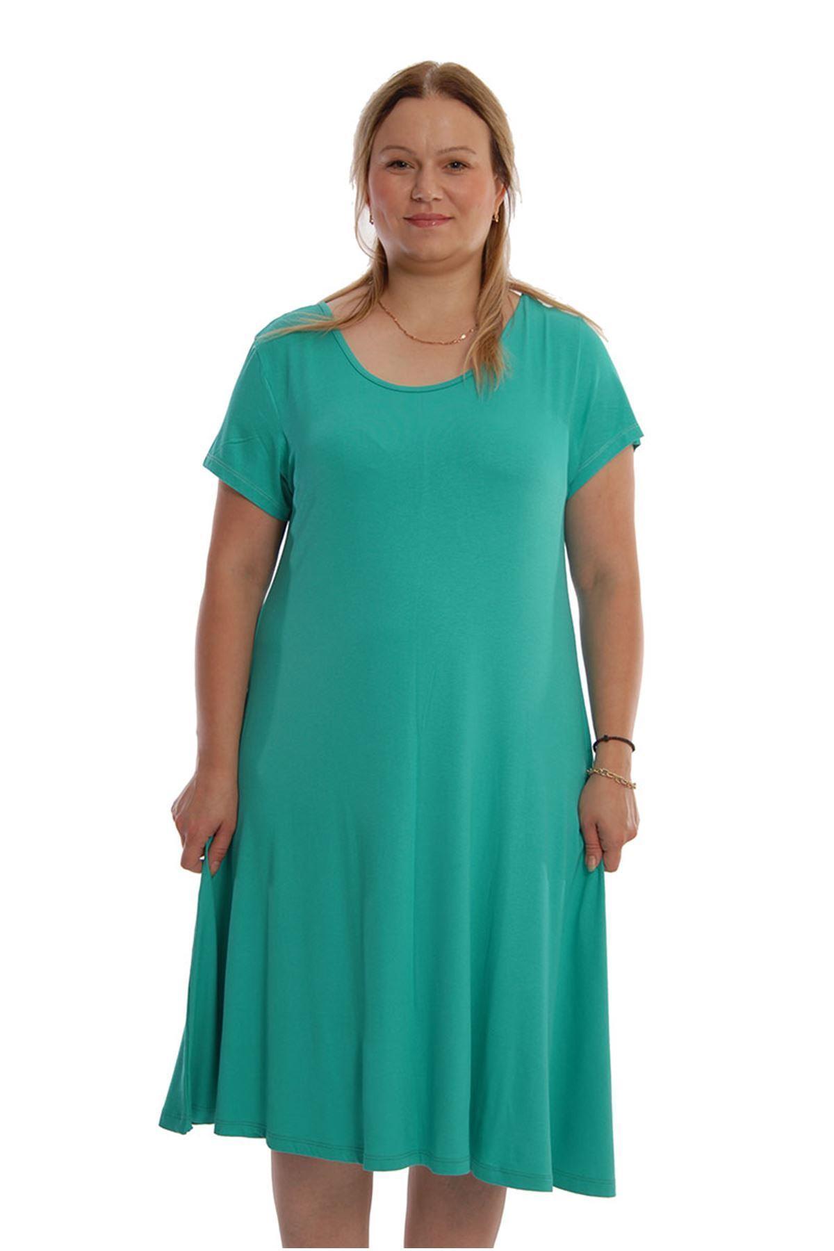 Yeşil Kloş Elbise 22C-67824