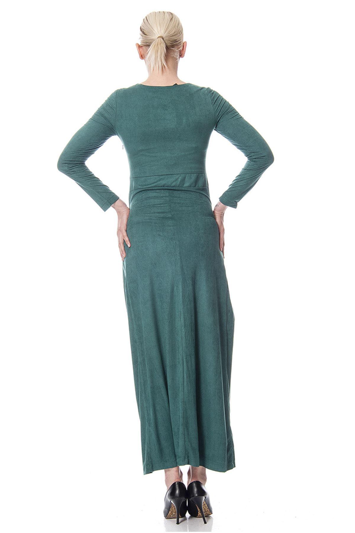 Süet Yaka Detaylı Elbise G9-113505
