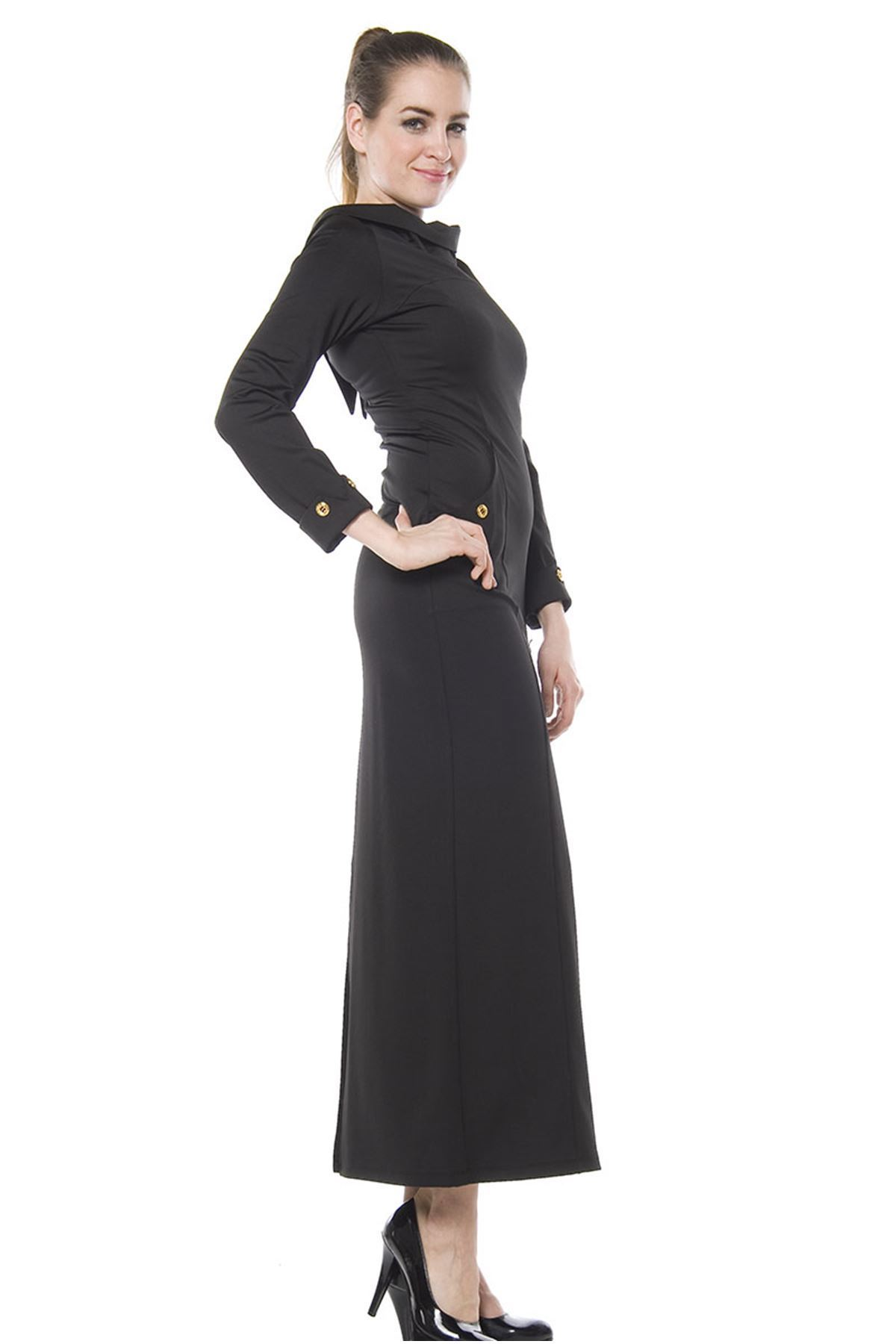 Siyah Uzun Elbise F2-65520