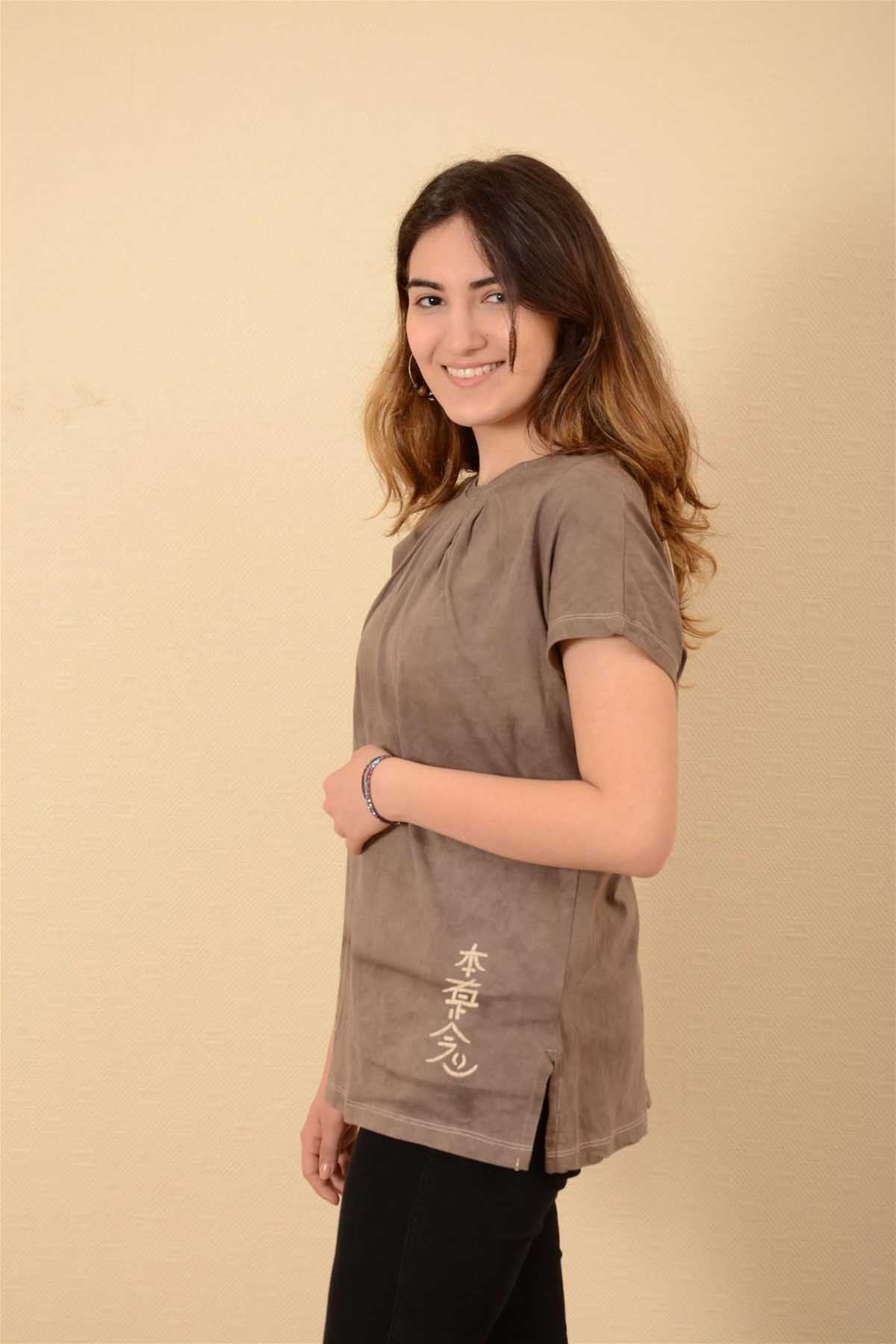 Sedef - Pileli Kısa Kollu Tshirt K1011