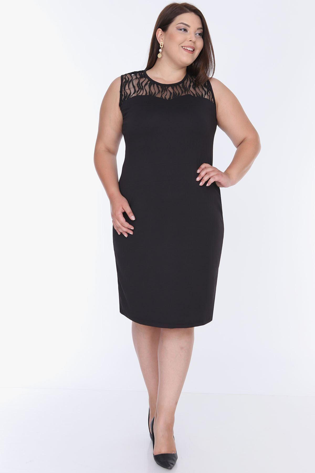 Simli Dantelli Elbise 2E-0660