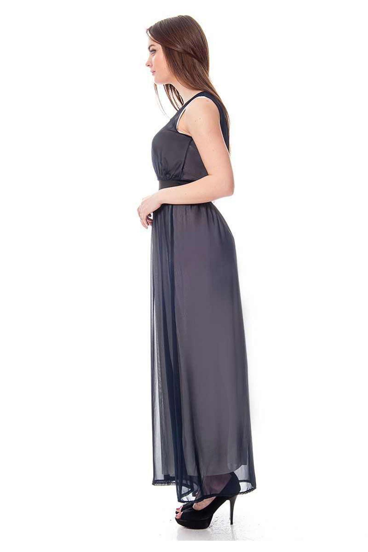 Lacivert Uzun Elbise K2-114287