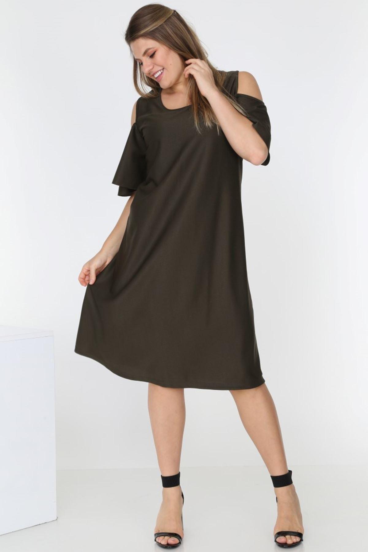 Koyu Yeşil Elbise 2D-0541