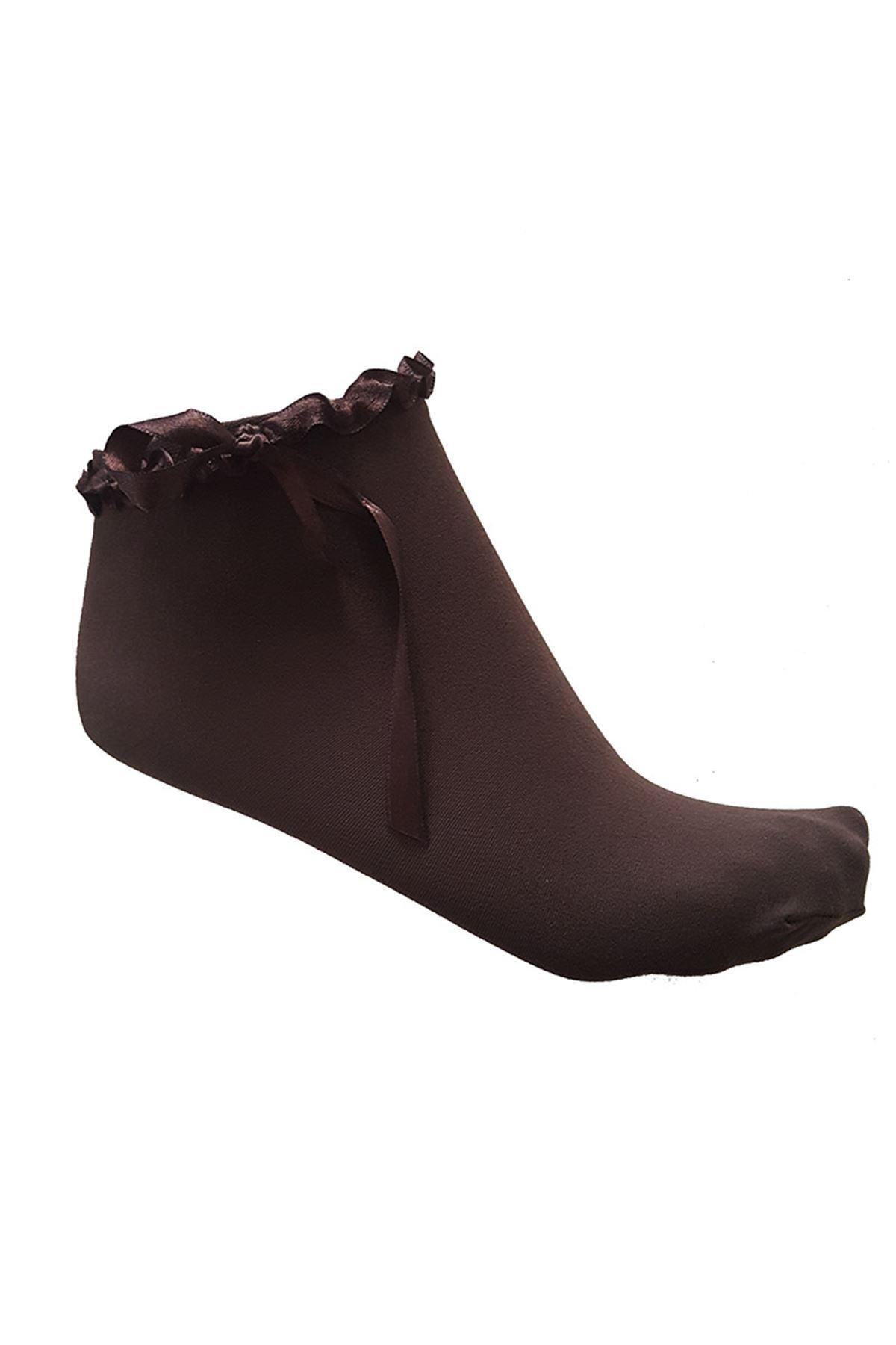 Kurdele Detaylı Çorap 11A-56986