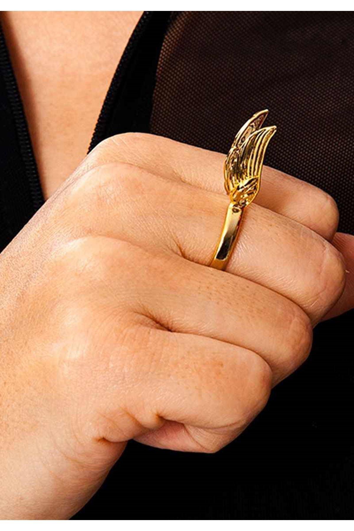 Gold Kanatlı Yüzük 2Ç-109064