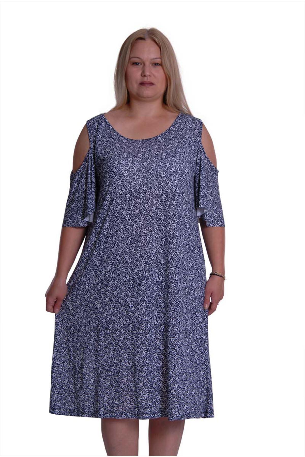 Desenli Yazlık Model Elbise 5C-0211