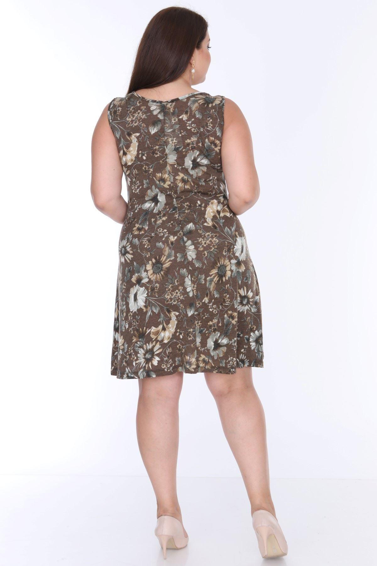 Desenli Kolsuz Elbise Yazlık 17C-0629