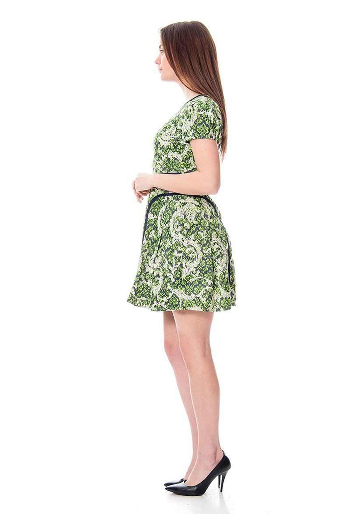 Desenli Kadın Elbise H9-113924