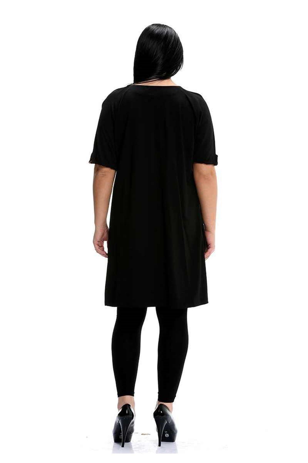 Büzgü Yaka Siyah G1-91539