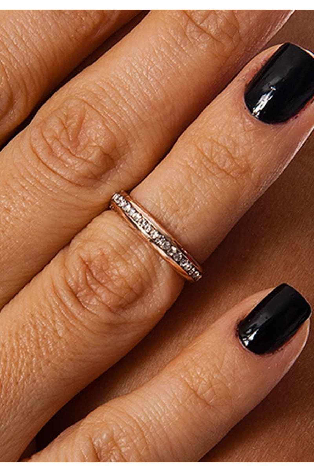 Bronz Taşlı Eklem Yüzüğü 2Ç-109105