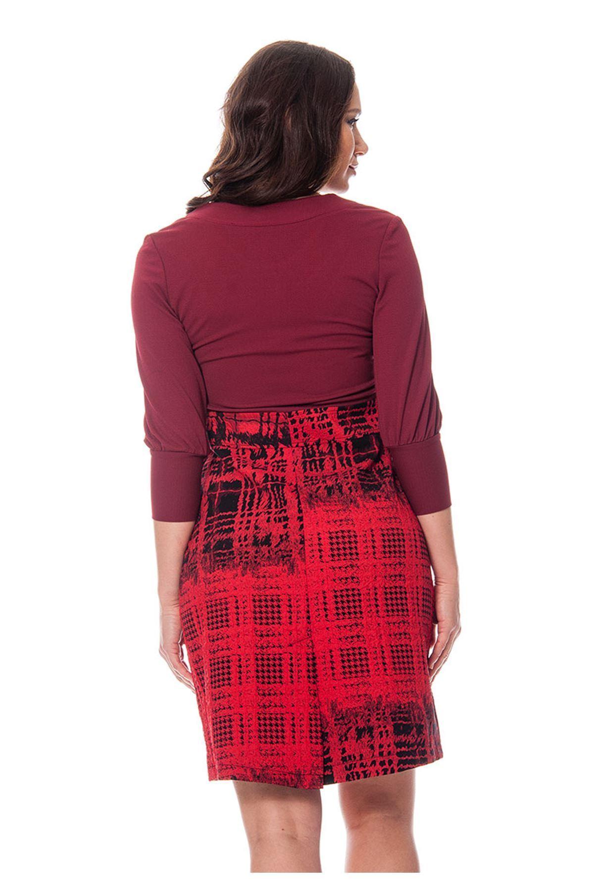 Bordo Elbise H12-110635