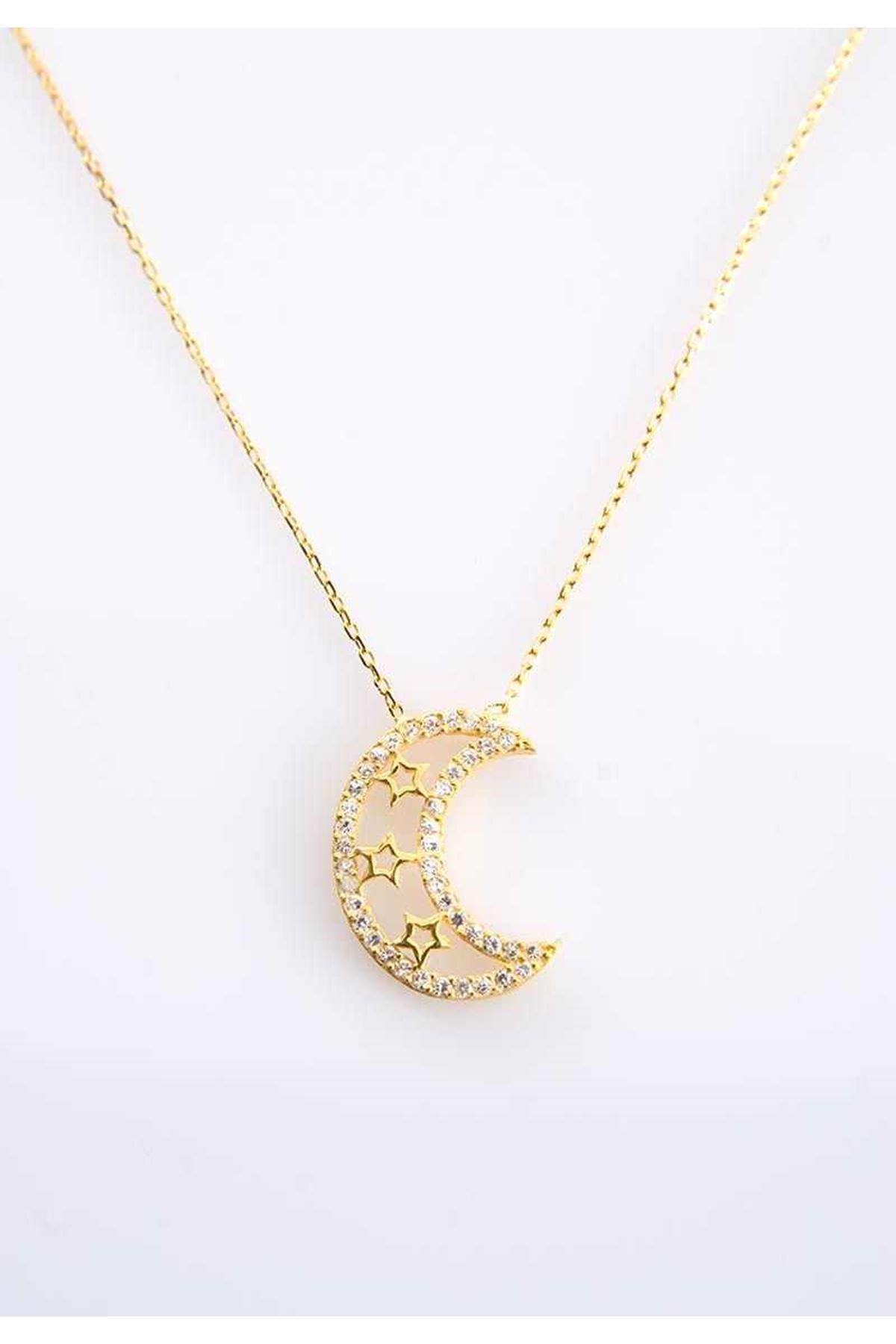 Ay Yıldız Gümüş Kolye Gk-77437