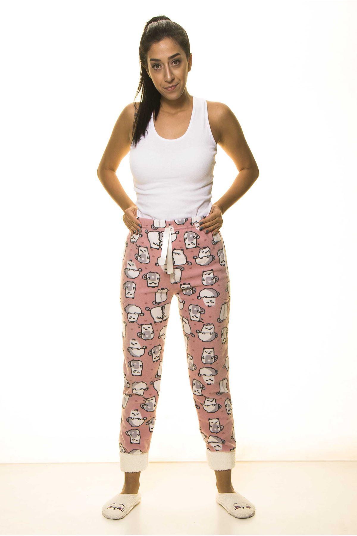 Kışlık Polar Pijama Altı 9D-1487