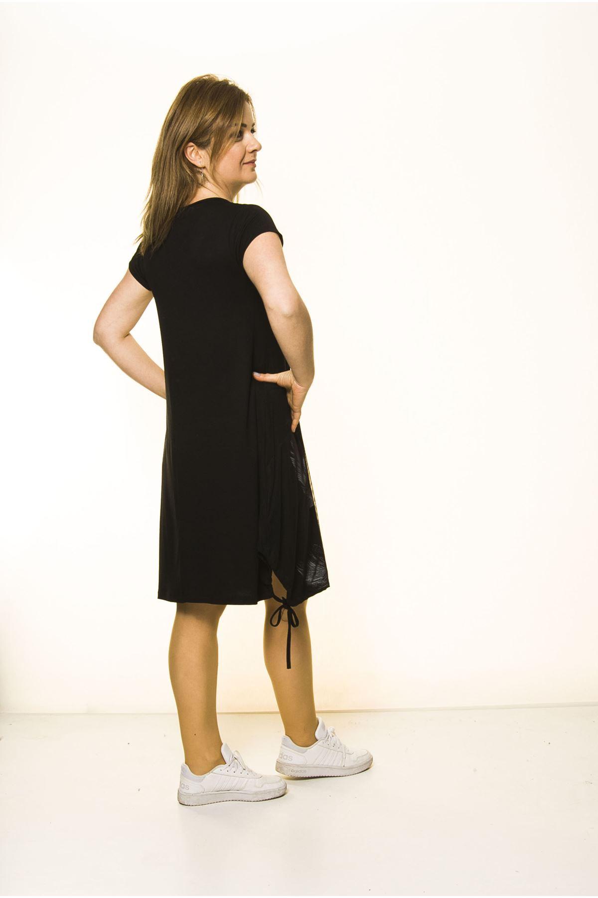 Siyah Kadın Spor Şık Elbise 5D-2096